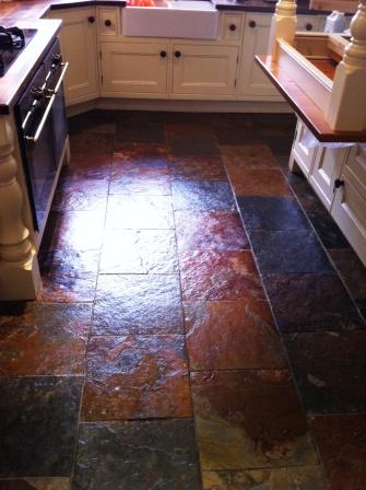 Slate Floor Refinised with Tile Doctor Seal and Go
