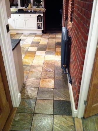 Slate Kitchen Floor After Sealing