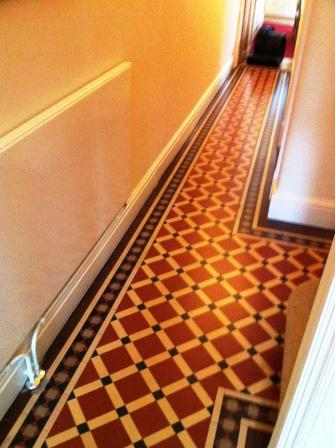 Victorian Hallway floor tiles after Sealing