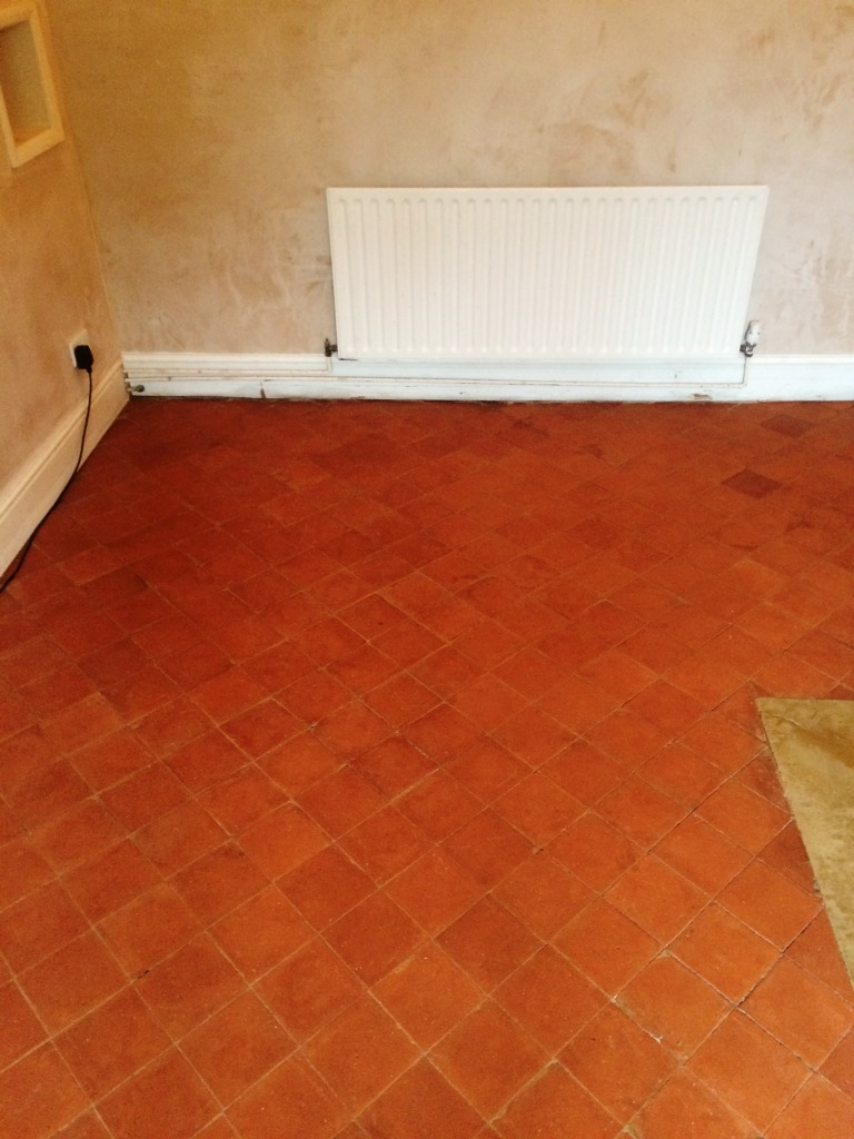 Quarry Tiled Floor After Restoration Radcliffe-on-Trent