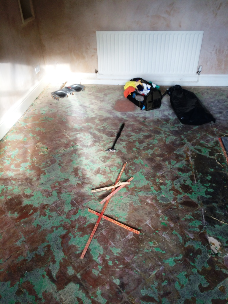 Quarry Tiled Floor Before Restoration Radcliffe-on-Trent