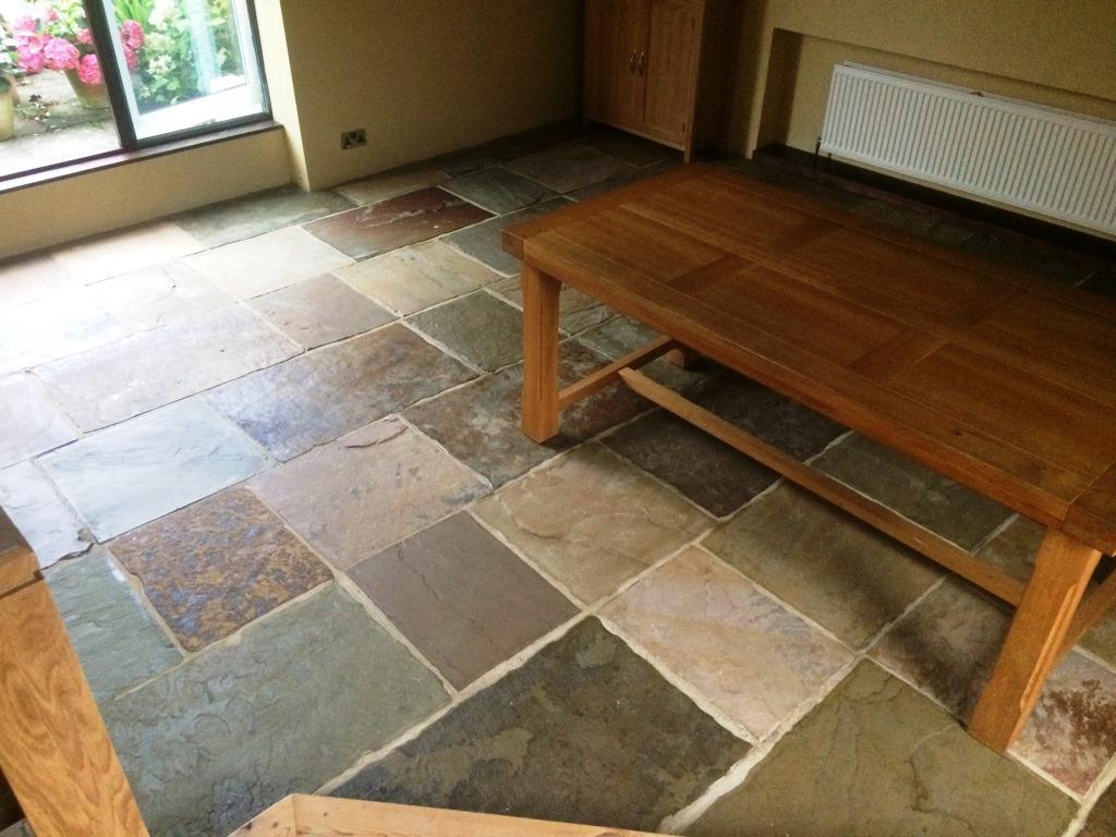 Sandstone Flagstone Floor After Cleaning Newark