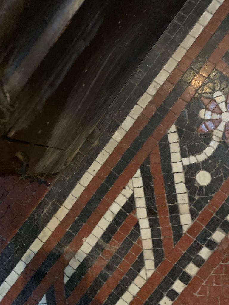 Tessera Mosaic Floor After Repair Lace Market Nottingham City