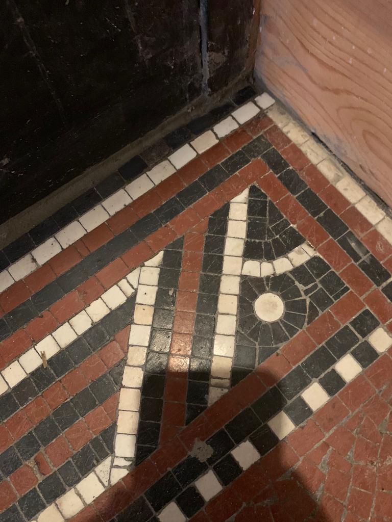 Tessera Mosaic Floor After Repair Lace Market Nottingham City