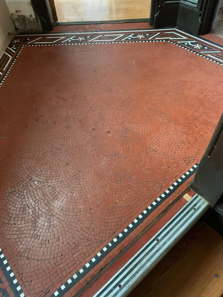 Tessera Mosaic Floor After Restoration Lace Market Nottingham City