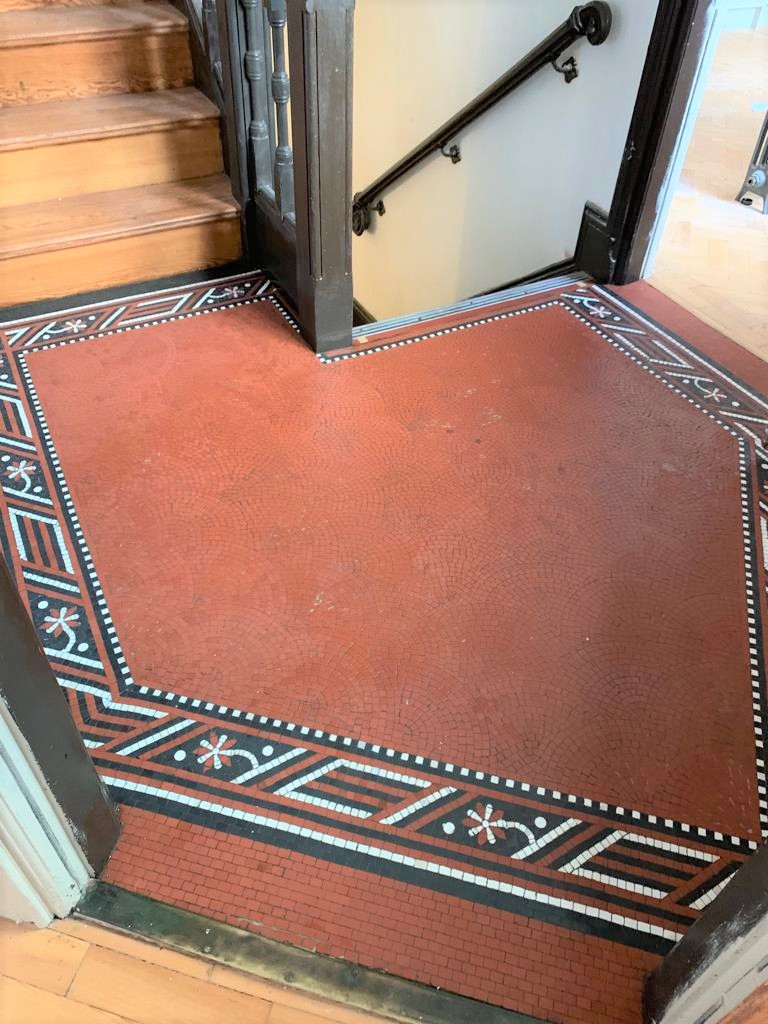 Tessera Mosaic Floor After Restoration Lace Market Nottingham City