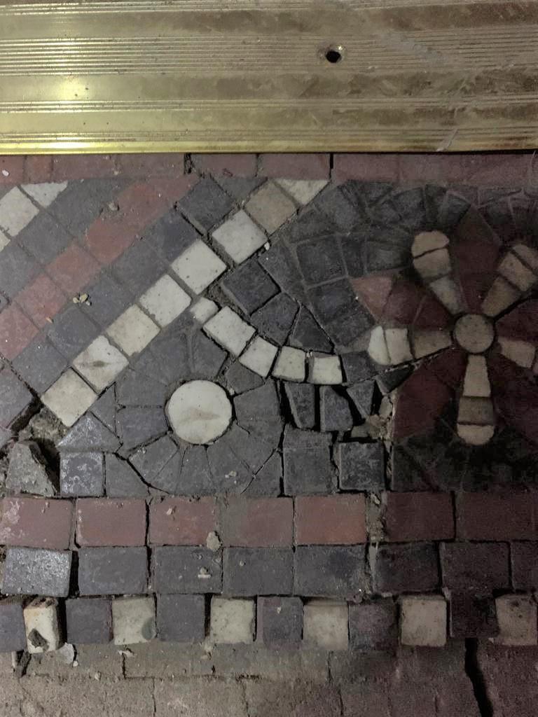 Tessera Mosaic Floor Before Repair Lace Market Nottingham City