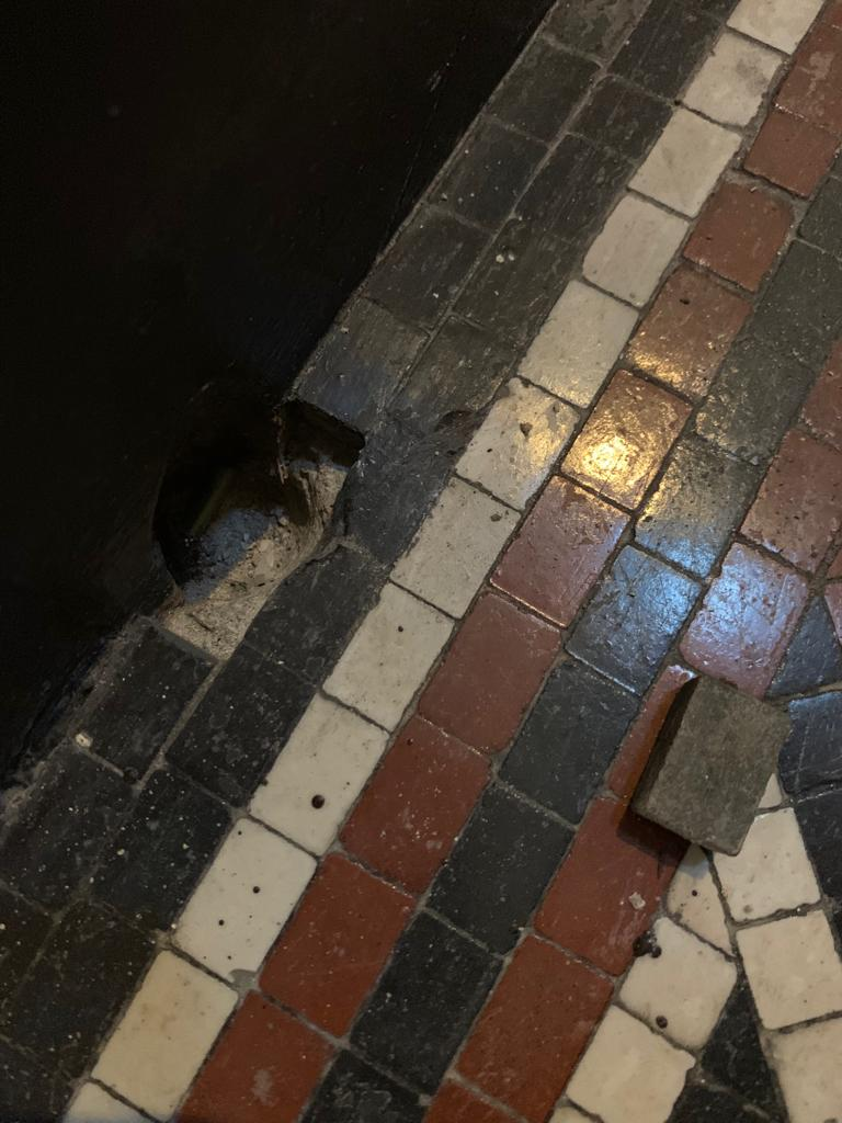 Tessera Mosaic Floor Before Repair Lace Market Nottingham City